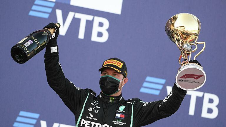 Валттери Боттас выигрывает Гран-при России